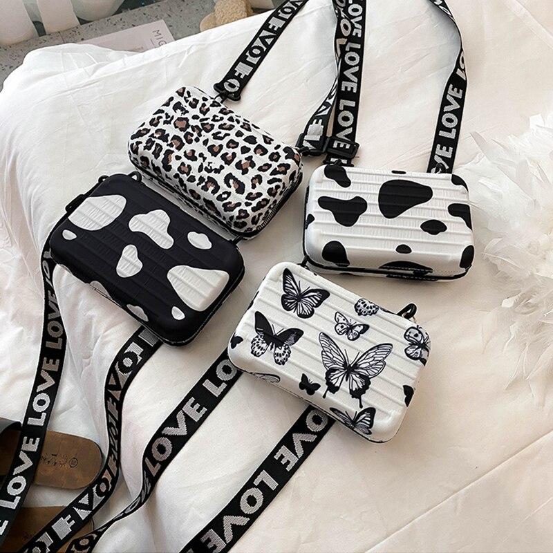 Luxury Shoulder Bags for Women Fashion Small Luggage Bag 2020 New Suitcase Shape Mini Bag PU Single