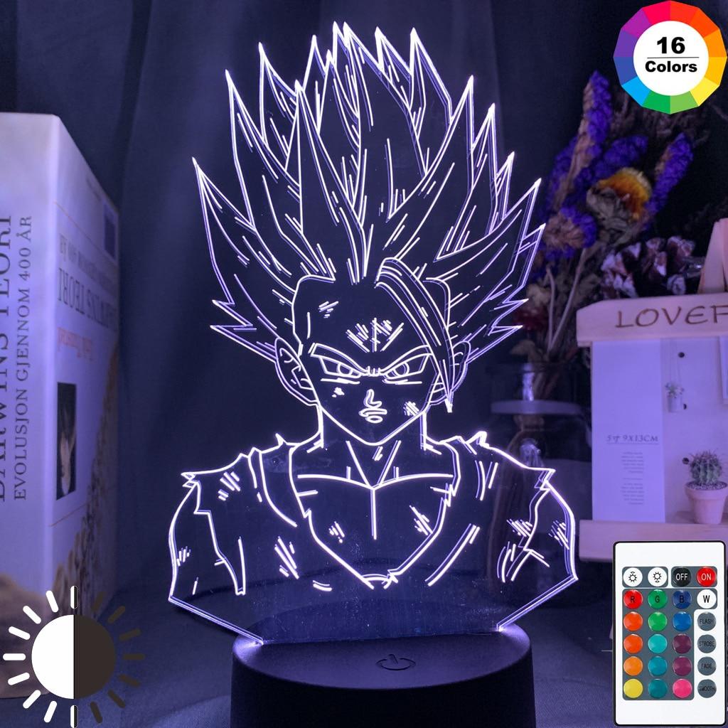 Lámpara 3d Bola de Dragón Z Gohan figura decoración dormitorio infantil luz nocturna Cool Kids Gift Anime Gadget Led luz nocturna Bola de Dragón