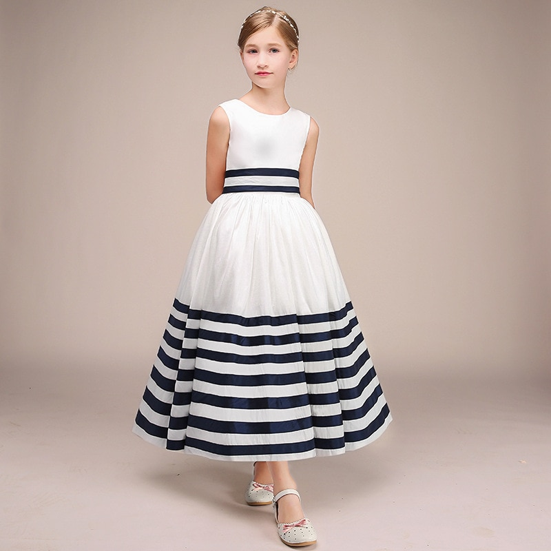 champagne kids girl formal party dress long tulle communion princess gowns flower girl dresses for wedding birthday Cute Kids Girl Formal Party Dress Short Shining Communion Princess Gowns Flower Girl Dresses For Wedding Birthday