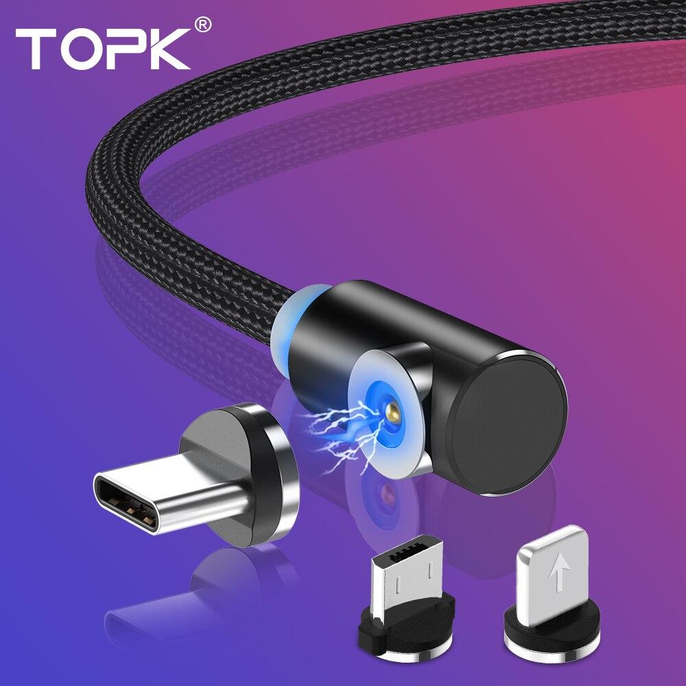 Cable USB magnético LED Cable Micro USB para Samsung Galaxy S9 S10 Note 9 teléfono móvil 3A carga rápida cable para IPhone