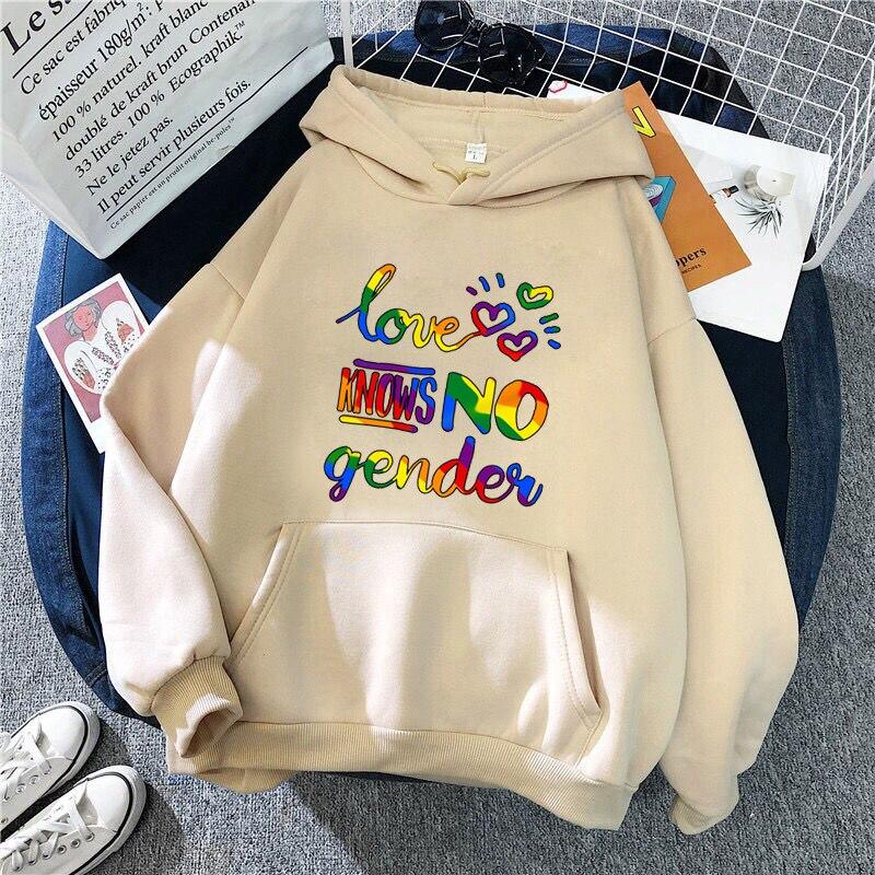 Крутые графические толстовки ЛГБТ пуловеры Толстовка для женщин мужчин осень зима ЛГБТ принт с капюшоном Толстовка уличная одежда Прямая п...