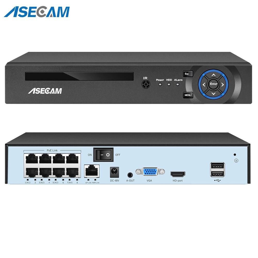 5MP H.265 4/8CH POE NVR Video Recorder IP Camera CCTV System P2P ONVIF Network Face Detect P2P Security Surveillance