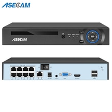 5MP H.265 4/8CH POE NVR Video Recorder IP Camera CCTV System P2P ONVIF Network Face Detect P2P Secur