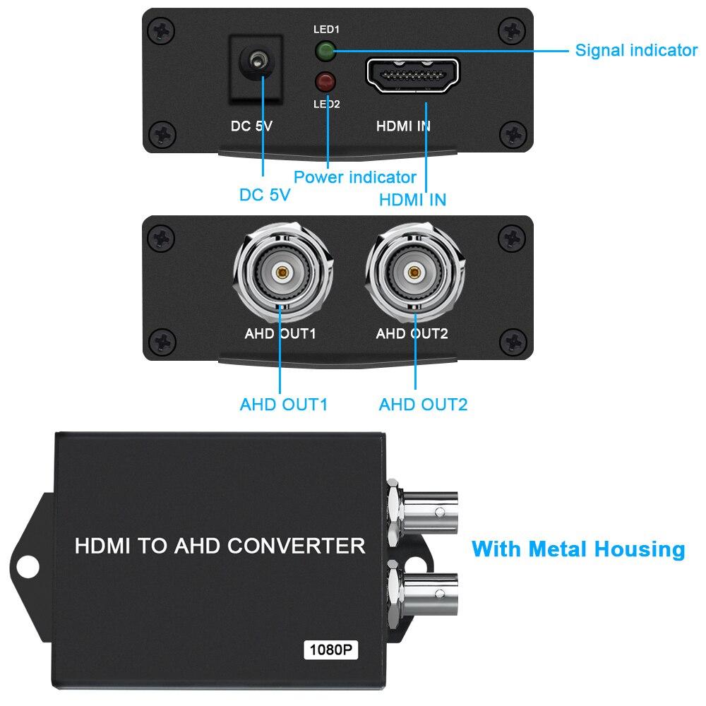 HD 1080P Video Converter HDMI to AHD Converter  signal converter HDMI to BNC HDMI coax cable For For CCTV Camera enlarge
