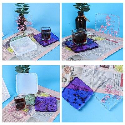 Форма «сделай сам» для эпоксидной смолы, форма для квадратных ромбов, силиконовая форма, зеркальная смола, силиконовая форма, набор для укра...