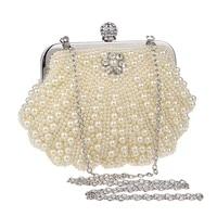 best selling ladies elegant diamond pearl beaded evening bags wedding bridal handbags mini clutch handbag