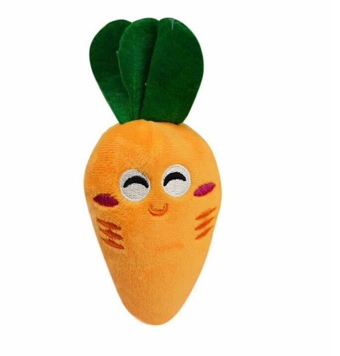 Pequeño perro cachorro juguetes zanahoria Linda juguete masticable para cachorros de peluche chirriante sonido lindo vegetal zanahoria diseño Juguetes