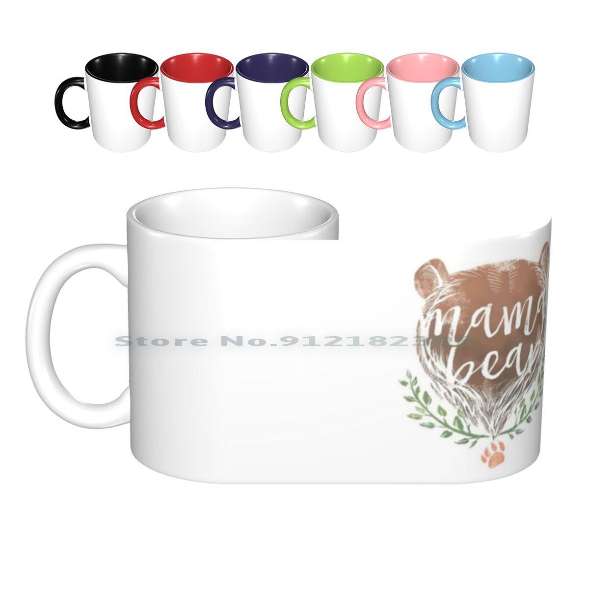 Mama Bear Ceramic Mugs Coffee Cups Milk Tea Mug Mama Bear Bear Mother Mothers Mothers Day Thanksgiving Christmas Xsmas Womens