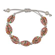 Vintage imprimé coquille Bracelet naturel conque tressé Bracelet réglable bracelets cheville chaîne corde été fille breloque bijoux cadeau