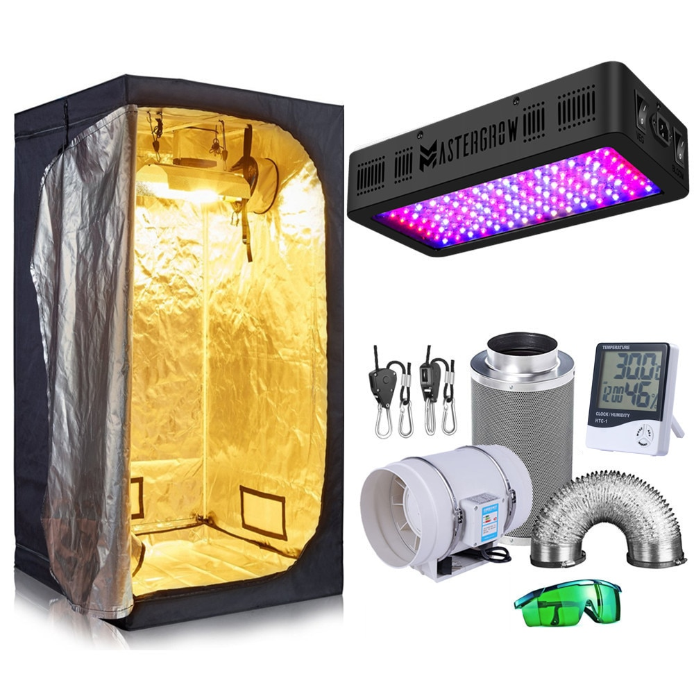Grow Tent Complete Kit 600W LED Grow Light+Dark Room+Filter Exhaust Kit+Hydroponics Indoor Plants Growing System Accessories enlarge
