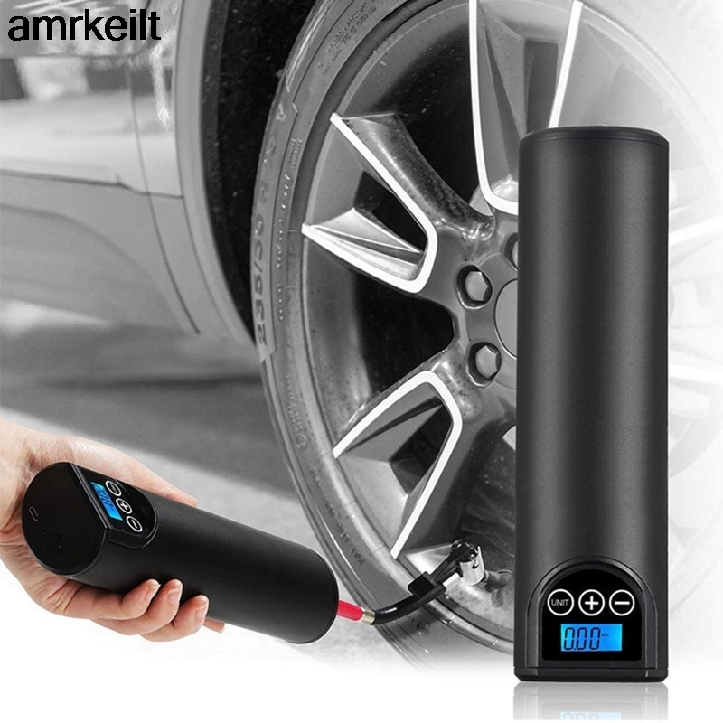 12V 150PSI Rechargeable Air Pump  Digital Car Tyre Pump for Car Bicycle Tires Balls Tire Inflator Cordless Portable Compressor 120w rechargeable air compressor wireless inflatable pump portable air pump car tire inflator digital for car bicycle balls