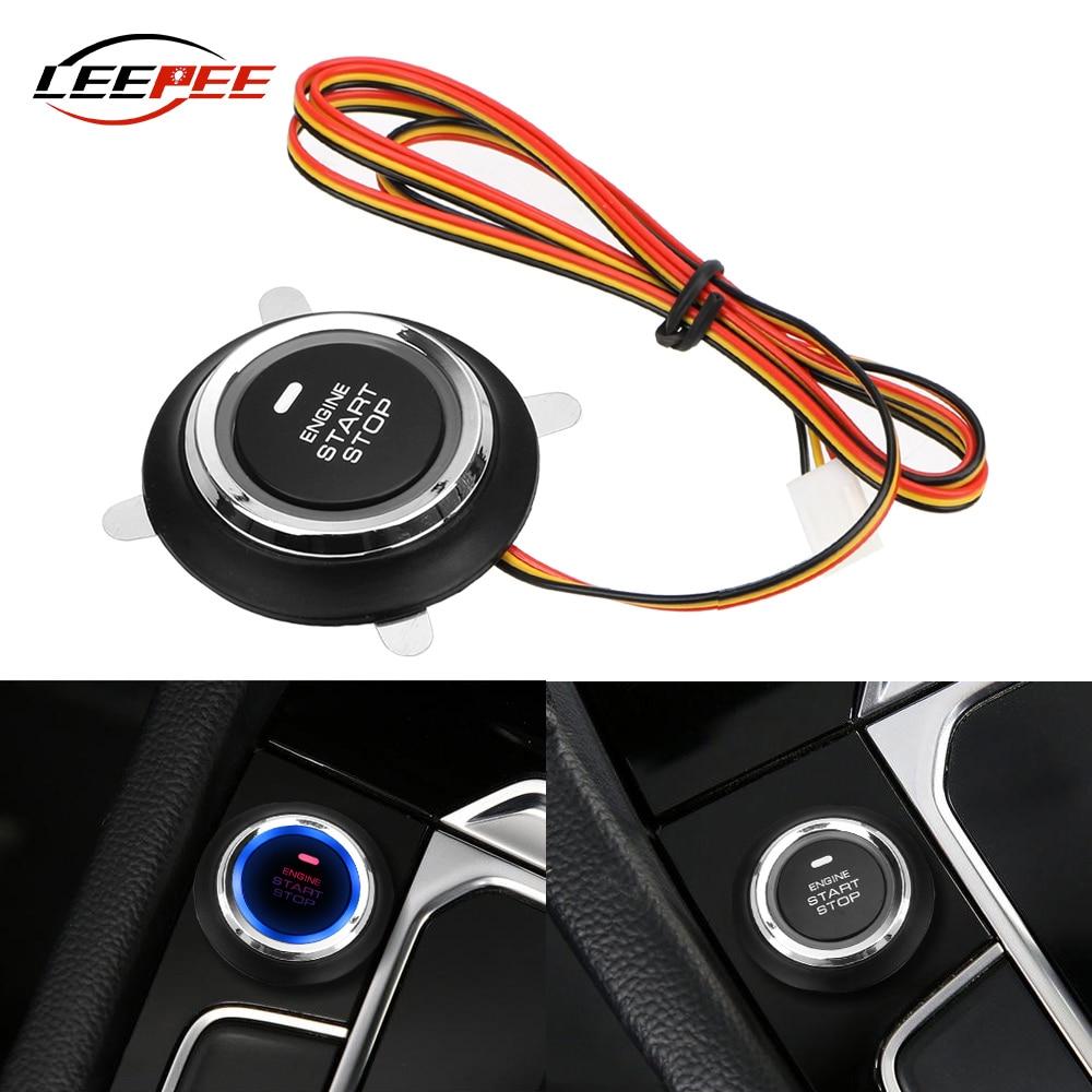 12 В кнопка запуска двигателя гоночного автомобиля кнопка стартера Переключатель входа зажигания светодиодная подсветка универсальные авт...