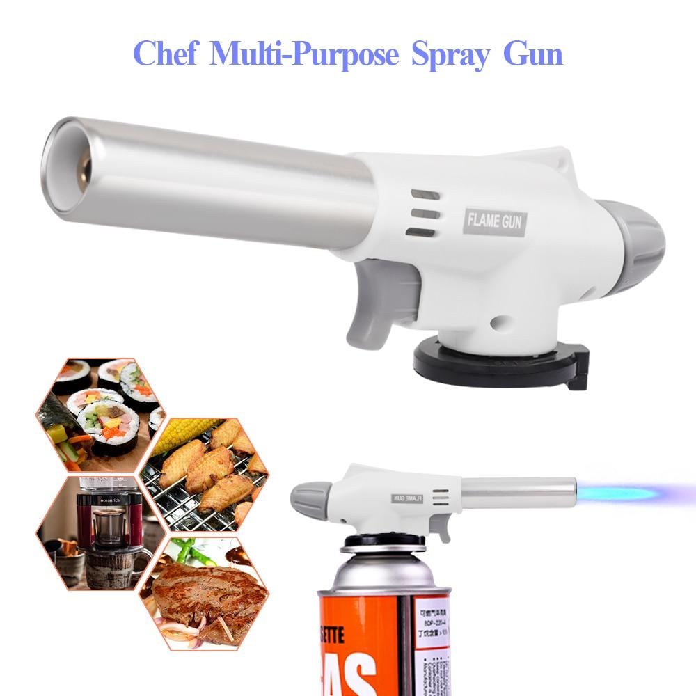 Газовая горелка для барбекю, газовая гофонарь лка с пьезоподжигом, Бутановая горелка для приготовления пищи, зажигалка для нагрева, Сварочн...