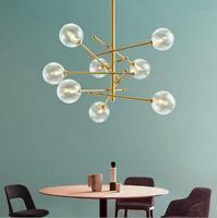 Loft Gold Creative Chandelier Iron Dining Lighting Living Room Lamp American Syle Minimalism Lamp Indoor Modern LED