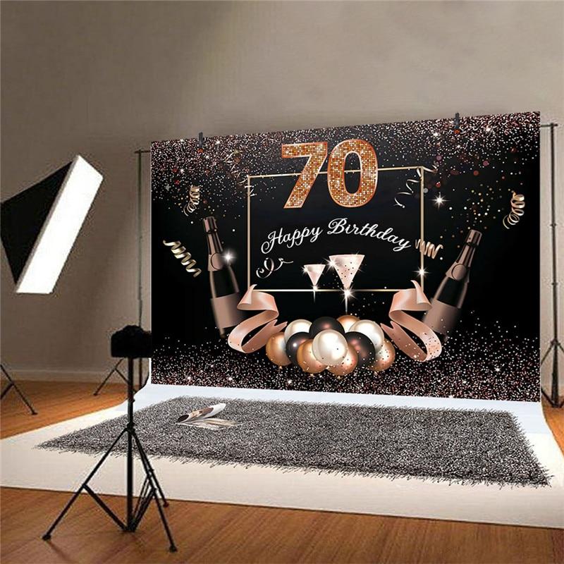 60/70 años de edad Feliz cumpleaños telón de fondo foto Props fiesta de los abuelos cumpleaños fiesta decoración 150x9 0/210x150cm