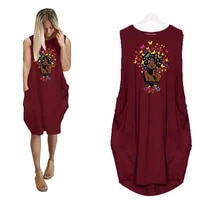 beautiful letters print pocket loose sleeveless dress dress women vestidos beach dresses boho cheap clothes china plus size