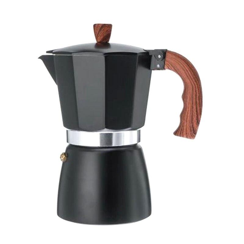 150ml de alumínio máquina de café durável moka cafeteira expresso percolador pote prático moka café preto