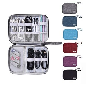 Free Ship Digital Accessories Storage Bags Single Layer Earphone USB Charger Wire Neaten Portable Bags Office Travel Bags