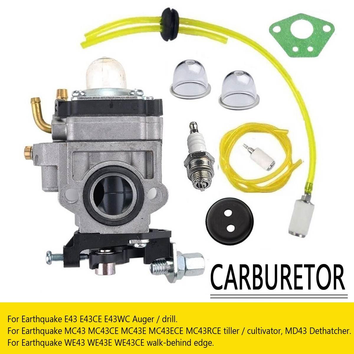 Carburador tune up kit terremoto e43 e43wc e43ce auger mc43 mc43e mc43c 300486 arbutor táxi substituição do motor da bicicleta