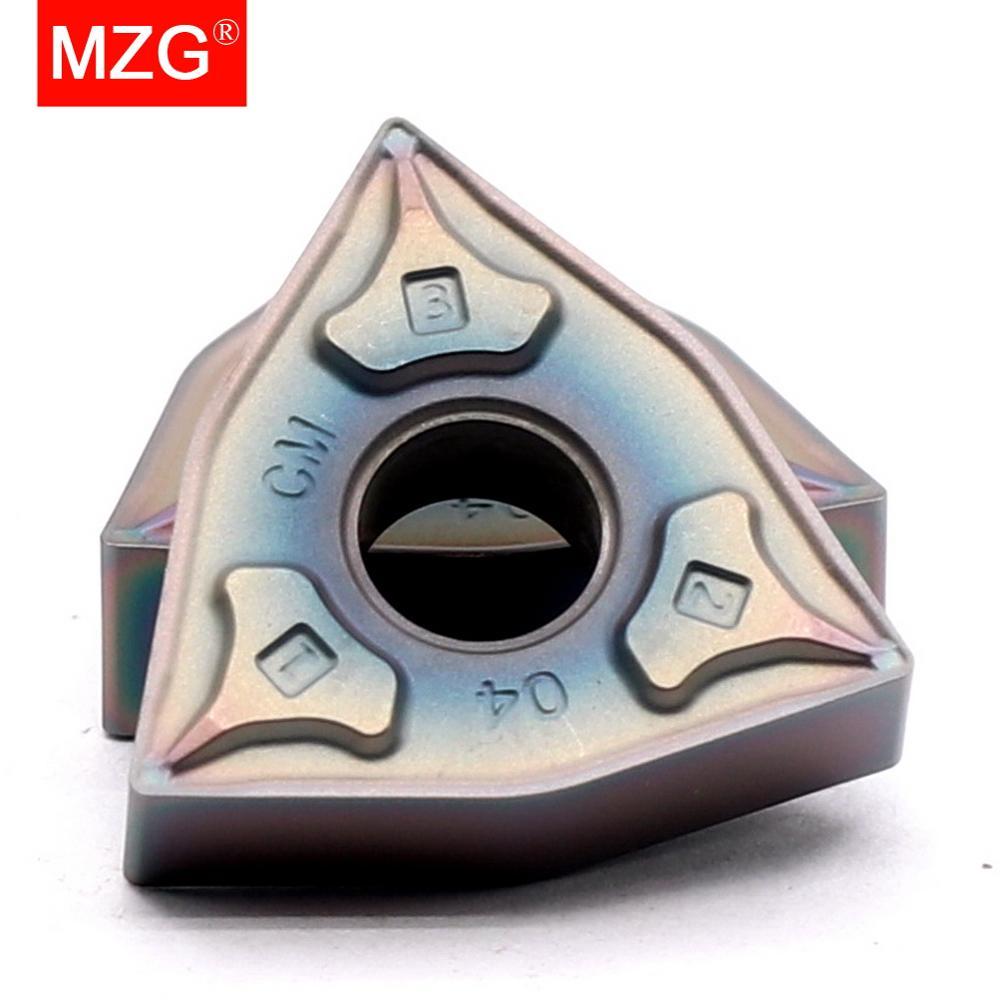 MZG 10 قطعة WNMG 080404 08 ZP1530 التيتانيوم بالقطع تحول مملة CNC مخرطة Tungste كربيد إدراج ل WWLN MWLN رأس تثبيت الملحقات