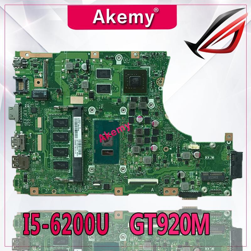 اللوحة الأم للكمبيوتر المحمول Akemy X456UJ X456UF لجهاز Asus X456U X456UQ X456UB X456UQK X456UV اللوحة الرئيسية 4GB-RAM I5-6200U GT920M / GT930M DDR3