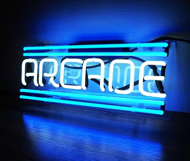 مصباح نيون للديكور المنزلي ، علامة مضيئة ، مع اسم مخصص ، شريط بيرة ، متجر مفتوح ، عرض أركيد ، 14 بوصة × 7 بوصة