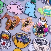 cartoon cat patches animals iron on patches space astronaut cup embroidered patches for clothing thermoadhesive patches stickers