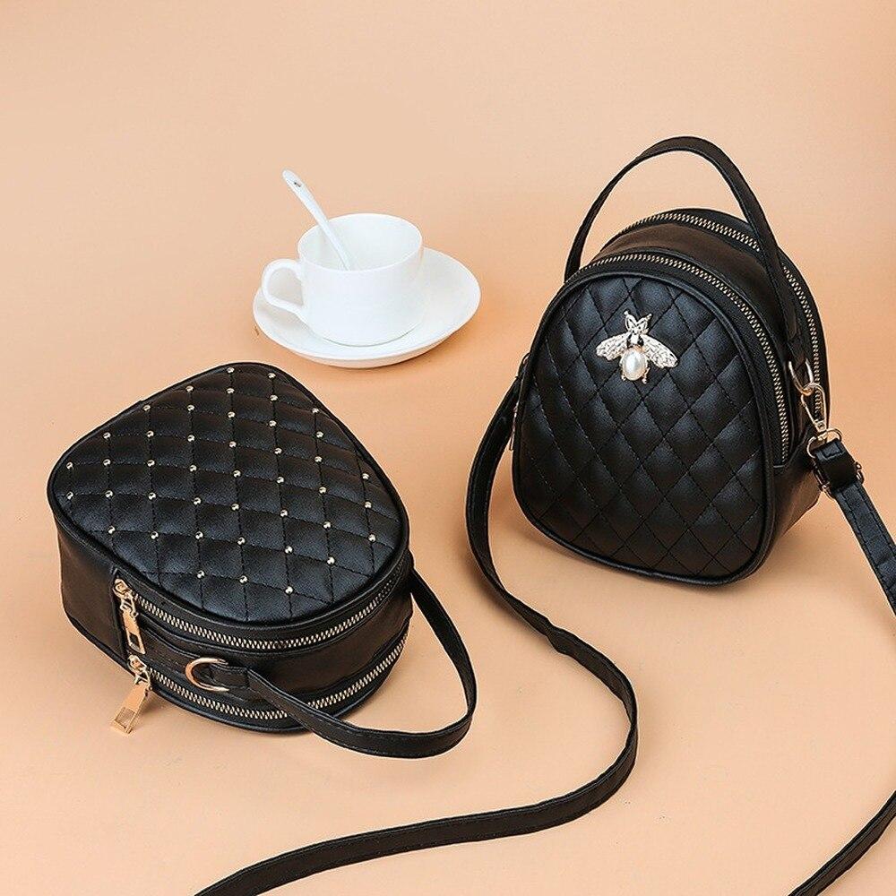 2021 New Korean Style Women's Shoulder Bag Fashion Diamond Messeger Crossbody Bag Double-layered Fam