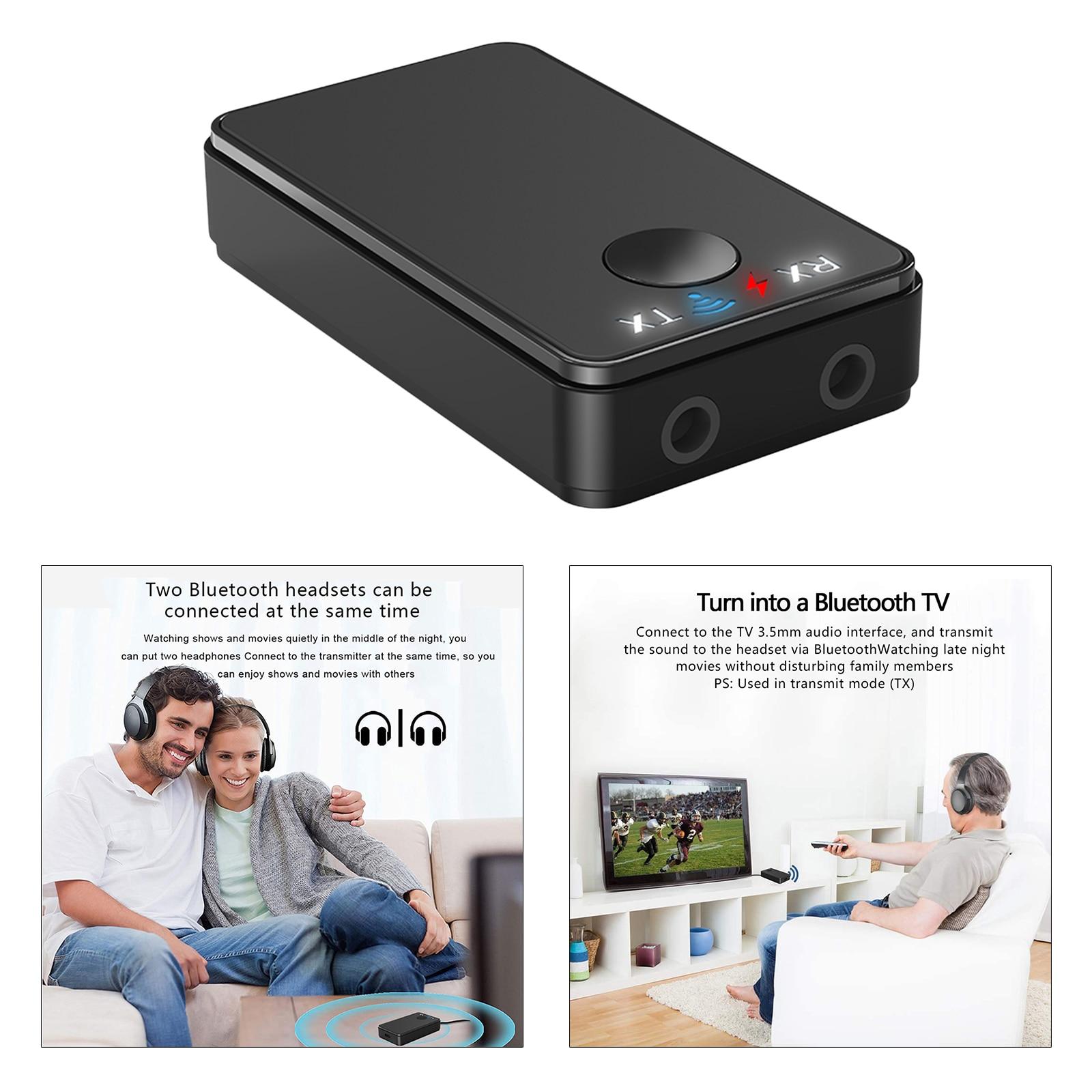 Adaptador Bluetooth 5,0, receptor transmisor de Audio inalámbrico para PC, TV, coche, 3,5mm, AUX, transmisor de música