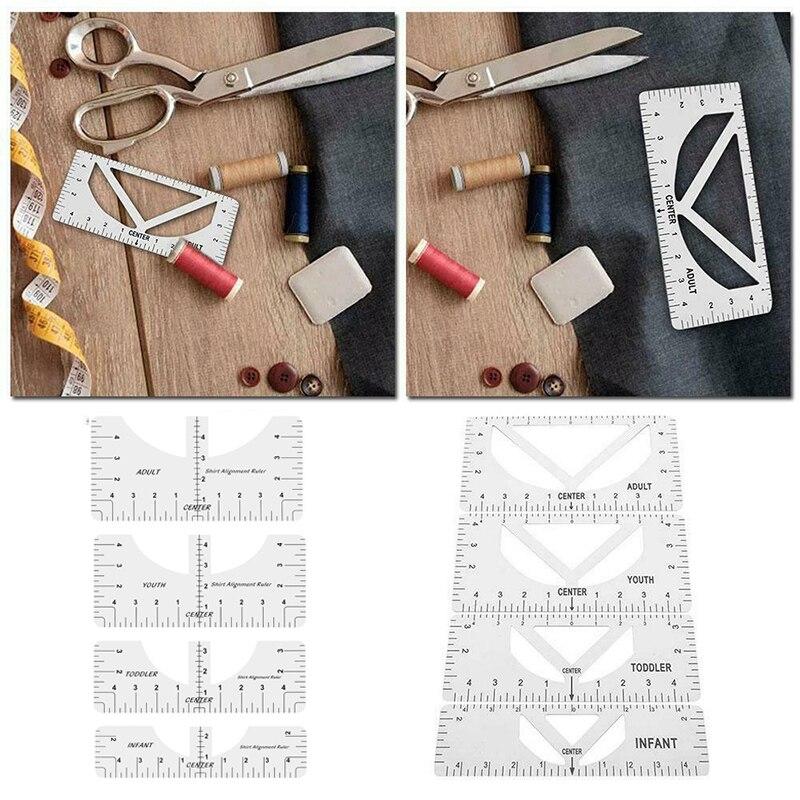 Линейка для выравнивания футболок, линейка для дизайна футболок, инструмент для выравнивания футболок, легко откалибровать напильник для р...