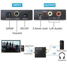 3.5mm RCA numérique à analogique convertisseur stéréo amplificateur de Signal Audio à analogique DAC Fiber optique décodeur spdif câble Coaxial pour TV