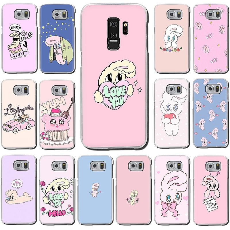Funda de teléfono dura Rosa coreana chuu Ester kim rabbit para Samsung S7 Edge S8 S9 S10 Plus S10e Note 8 9 10 M10 M20 M30 M40
