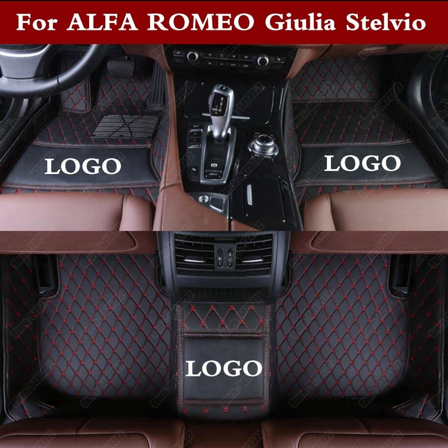 Tapis de pied de voiture 3D de luxe pour ALFA ROMEO Giulia Stelvio accessoires de voiture personnalisés tapis de sol