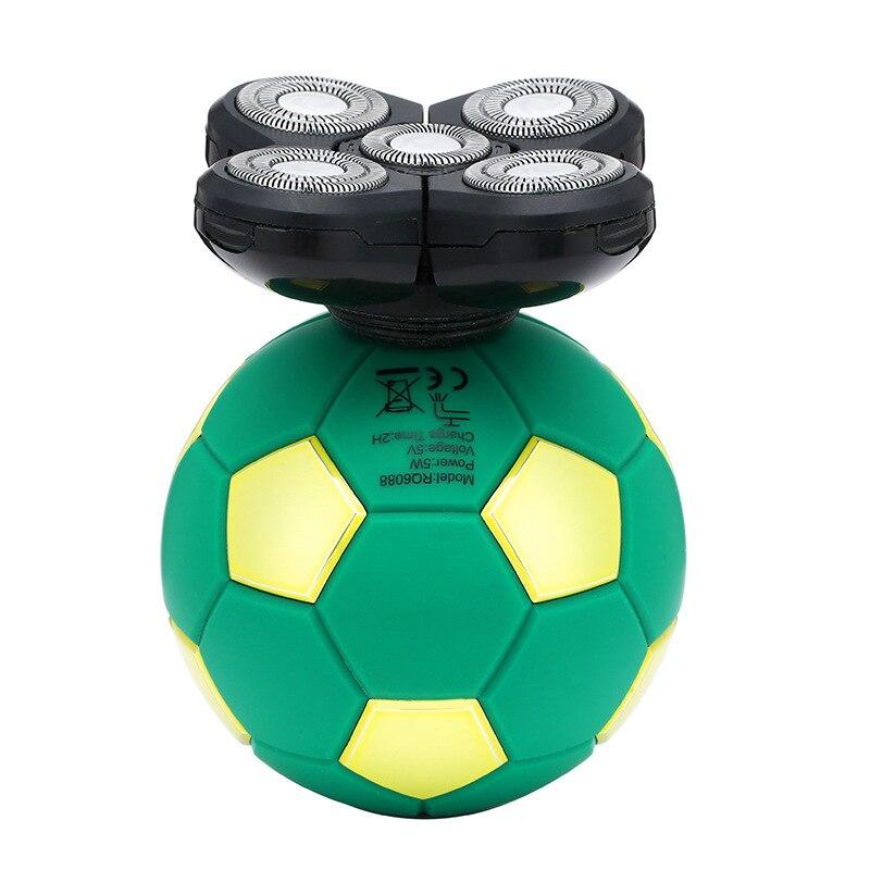 Voetbal scheerapparaat vijfbladige zelfbediening kaal artefact oplaadbaar elektrisch scheerapparaat kan worden gewassen enlarge