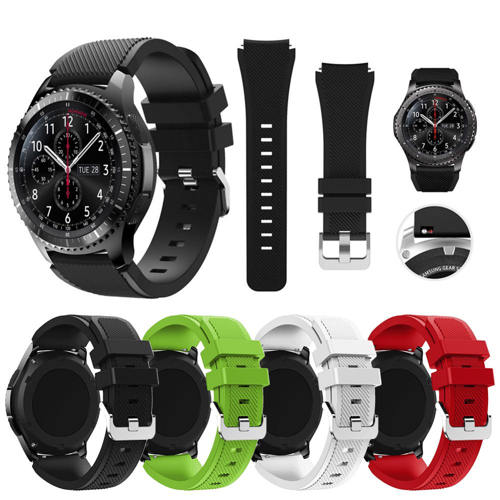 Banda de Silicone Para Samsung Engrenagem S3 Fronteira/Classic 22 milímetros Assista Cinta Substituir Pulseira Para Samsung Galaxy Relógio pulseira