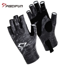 Piscifun Fishing Gloves Breathable UPF 50+ Sun Protection Fingerless Sports  Gloves Use for Outdoor