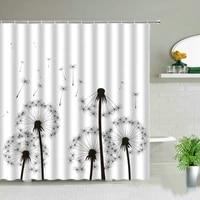 plant series shower curtain bathroom waterproof polyester shower curtain floral printing bathtub decoration shower curtain