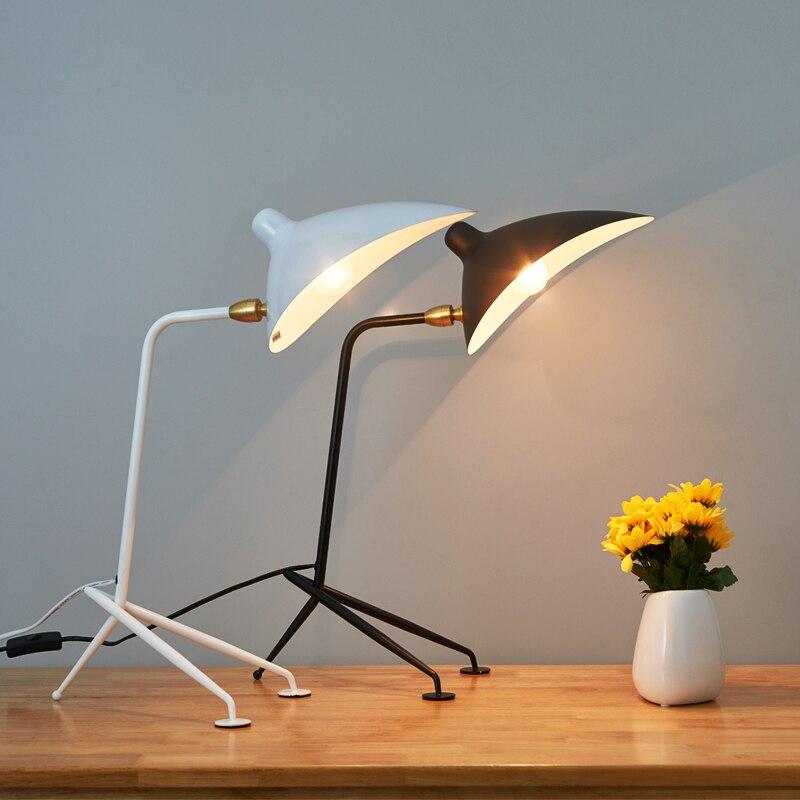SERGE MOUILLE-مصباح طاولة إسكندنافي حديث ، مصباح بجانب السرير ، دراسة ، غرفة نوم ، غرفة معيشة ، ديكور منزلي ، تركيبات مكياج