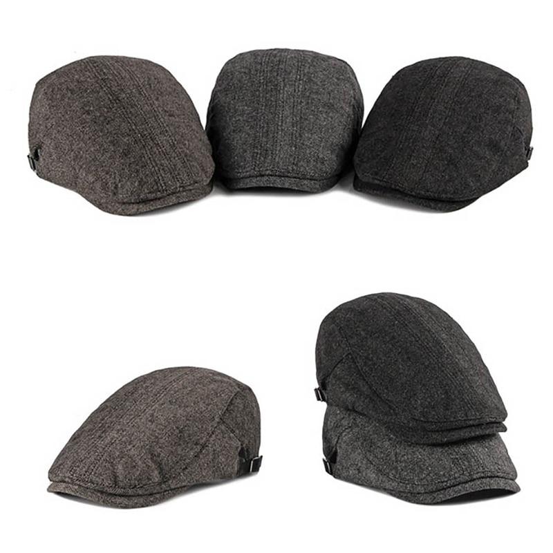 Sombrilla ajustable sombrero de pico gorras para exteriores accesorios de ropa hombres Deporte running boina gorra Vintage estilo británico