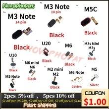 Pour Meizu M3 Note M6 M2 Mini M5s M3s Mini M5 U10 U20 bouton daccueil empreinte digitale capteur tactile capteur Flex câble ruban 14pin 10pin