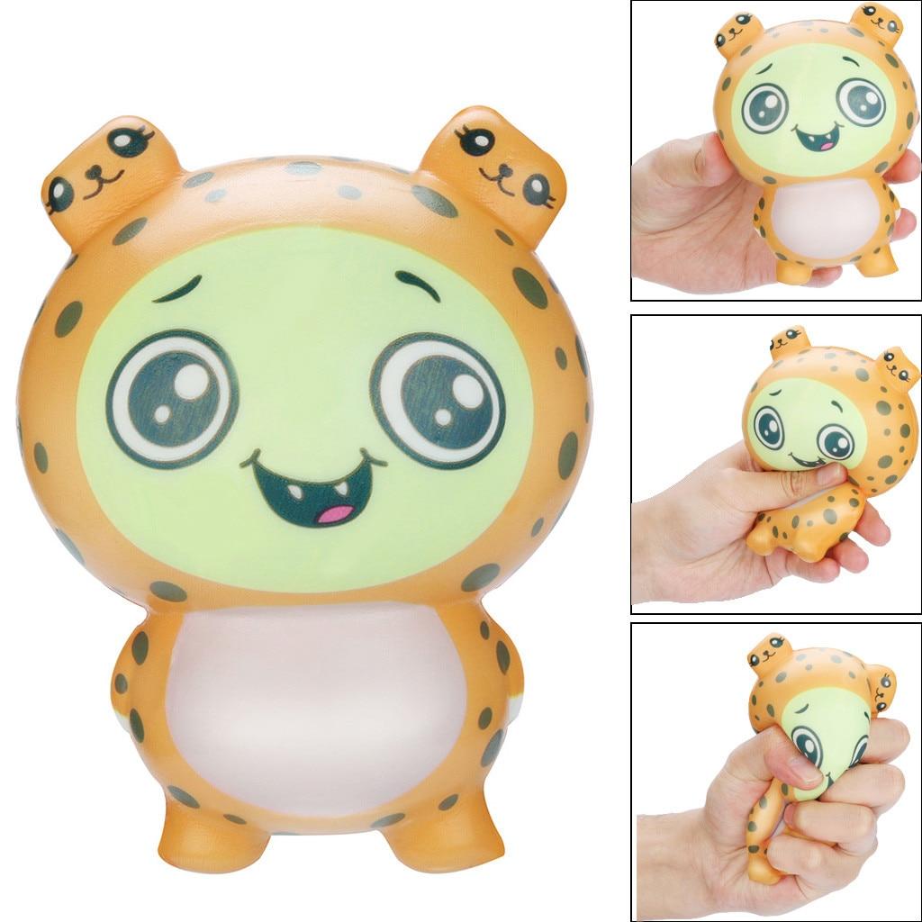 Juguetes blandos Kawaii Adorable juguete leopardo crema de aumento lento perfumado alivio del estrés Juguetes regalos Juguetes blandos Juguetes