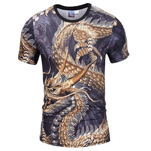 New Men's Summer 2020 Short Sleeve T-Shirt Fashion Domineering Dragon Print 3D Pattern Casual Top Comfortable Personality S-XXXL