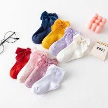 Summer Mesh Newborn Baby Girls Socks Fashion Bow Thin White Socks for Princess Girls Infant Clothes