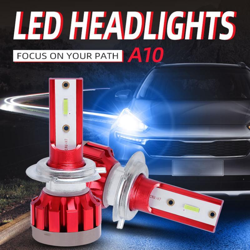 H1/H3/H4/H7/H11/9005/9006 8000K Ice Blue LED Light CSP Chips Car Headlight Bulbs 80W 12000LM Car LED Headlights Lamp Genuine A10