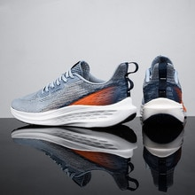 Hollow Fashion Sports Men's Shoes Summer 2021 New Q Elastic Shoes Shock Absorption Running Shoes Mes
