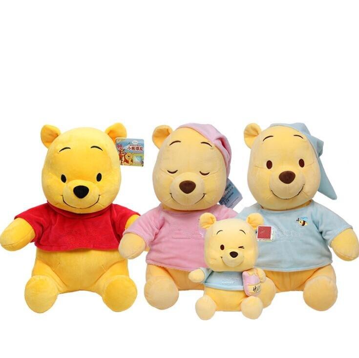 20/30cm brinquedos de pelúcia pohs urso winnies os pohs brinquedos de pelúcia animais bonecas de pelúcia bonito anime dos desenhos animados boneca para presentes das crianças
