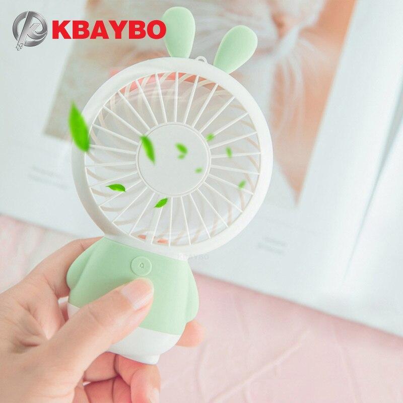 Mini USB Fan Tragbare Hand Fan mit LED nacht licht Batterie Betrieben USB Power Handheld Fan Kühler Elektrische Laptop Fan für home