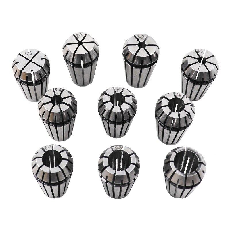 10PCS/Set (1-10mm) ER16 ER Spring Collet Chuck for CNC Engraving Machine Milling Lathe Tool Holder недорого