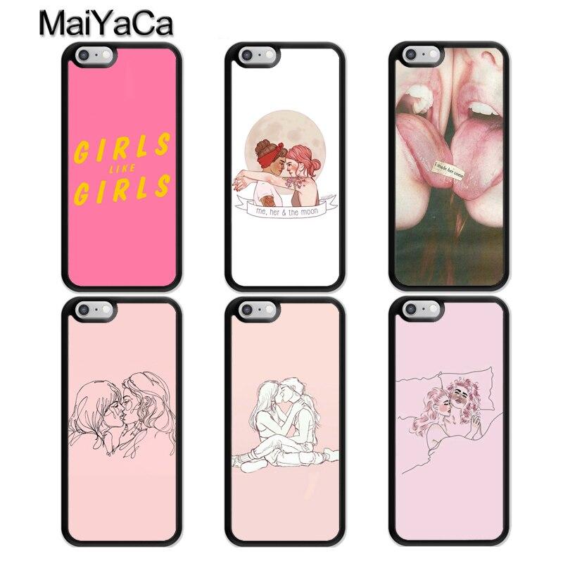 MaiYaCa, carcasa de teléfono para chicas lesbianas LGBT para iphone 11 Pro MAX X XR XS MAX SE 2020 6S 7 8 Plus, Fundas 5S