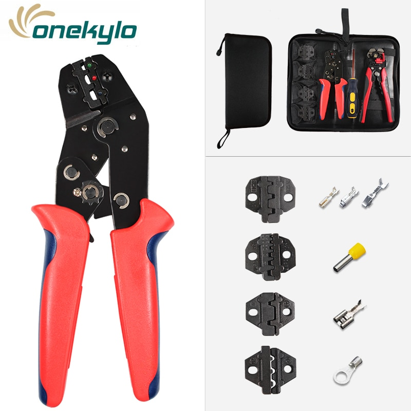 hs 625wfl crimping pliers for insulated non insulated ferrules tube terminals self adjusting 6 25mm2 10 3awg tools SN-02C Crimping pliers set for terminals crimp hand tools Suitable for all kinds of insulated and non-insulated/xh2.54 terminals